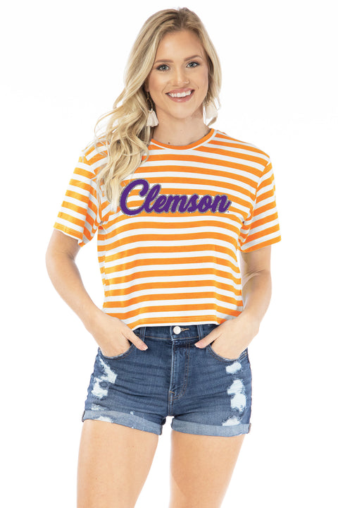 Clemson Tigers Stephanie Cropped Tee