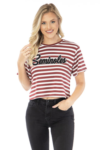 Florida State Seminoles Stephanine Cropped Tee