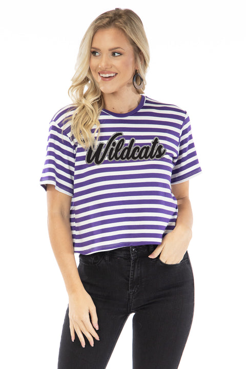 Kansas State Wildcats Stephanie Cropped Tee