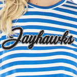 Kansas Jayhawks Stephanie Cropped Tee