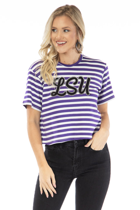 LSU Tigers Stephanie Cropped Tee