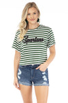 Michigan State Spartans Stephanie Cropped Tee