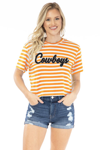Oklahoma State Cowboys Stephanie Cropped Tee