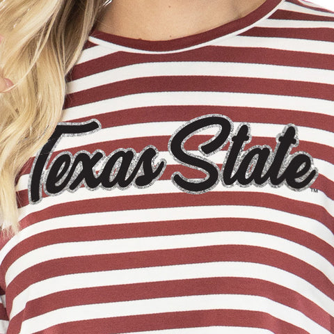 Texas State Bobcats Stephanie Cropped Tee
