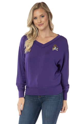 ECU Pirates Meredith V-Neck