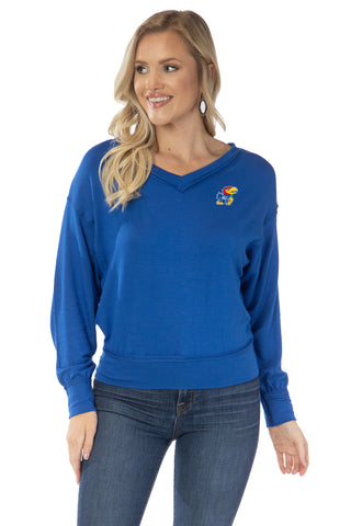Kansas Jayhawks Meredith V-Neck