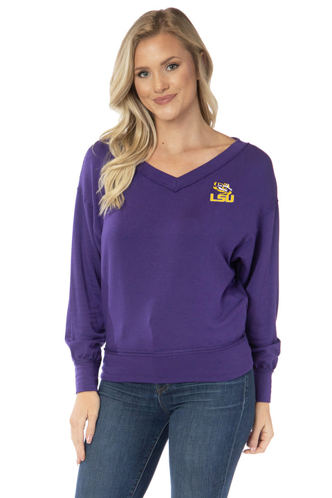 LSU Tigers Meredith V-Neck