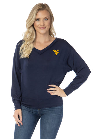 West Virginia Mountaineers Meredith V-Neck