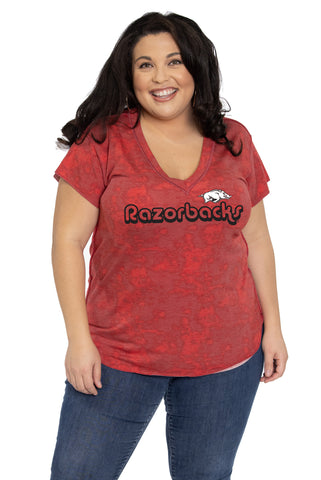 Arkansas Razorback Kelly V-Neck