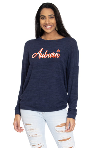Long Sleeve Cold Shoulder Top Flying Colors Womens NCAA Officially Licensed Auburn University Tigers The Courtney