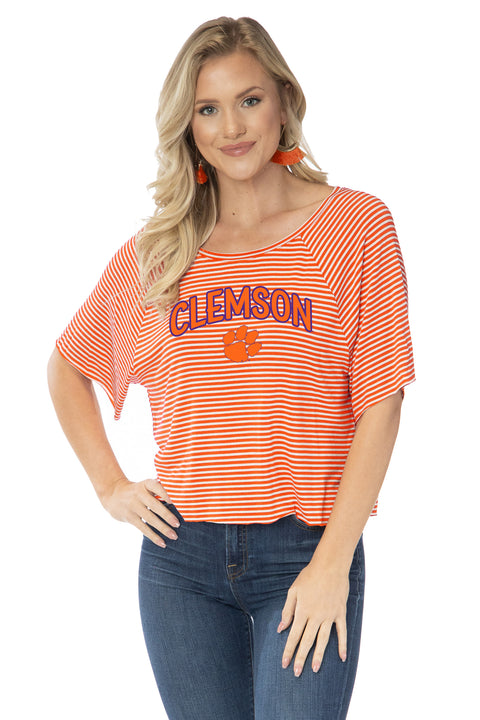 Clemson Tigers Emily Striped Tee