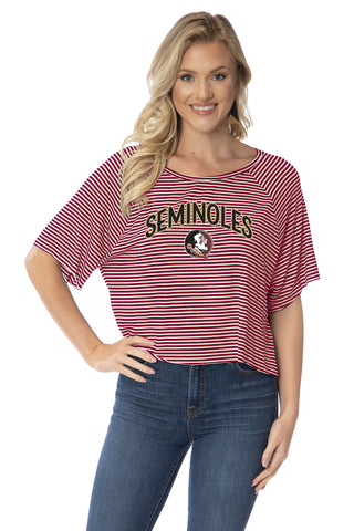 Florida State Seminoles Emily Striped Tee