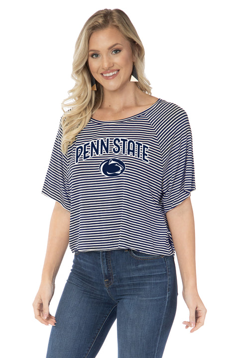 Penn State Nittany Lions Emily Striped Tee