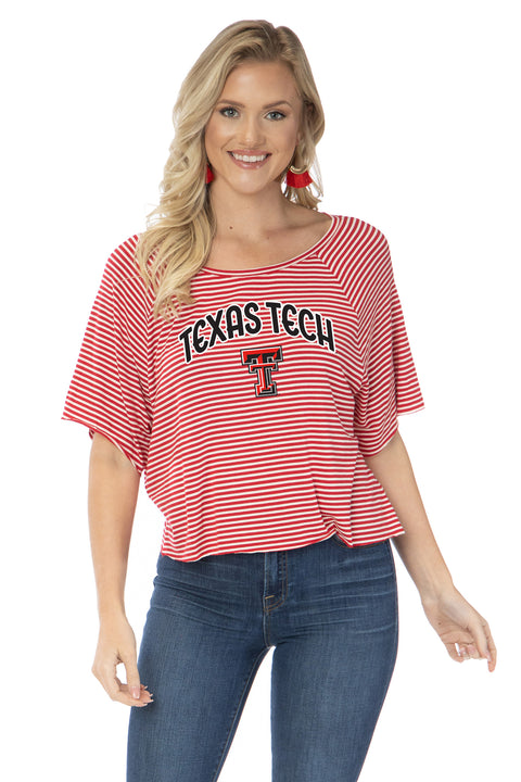 Texas Tech Red Raiders Emily Striped Tee