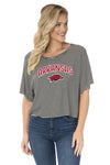 Arkansas Razorbacks Emily Striped Tee