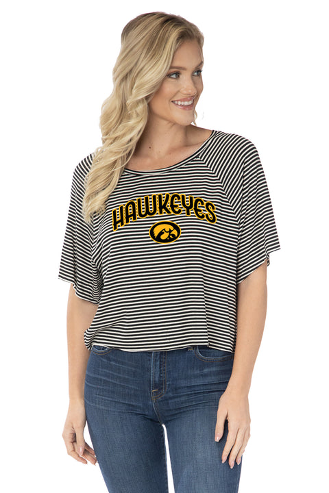 Iowa Hawkeyes Emily Striped Tee