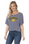 Michigan Wolverines Emily Striped Tee