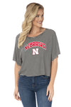 Nebraska Huskers Emily Striped Tee