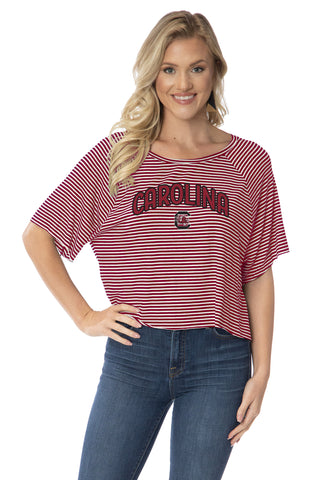 South Carolina Gameocks Emily Striped Tee