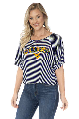 West Virginia Mountaineers Emily Striped Tee
