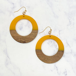 Wooden Hoops - Gold