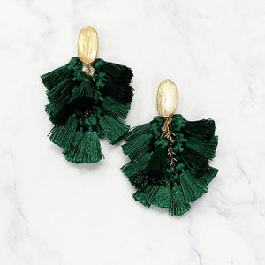 Tassle Bouquet Earrings - Hunter