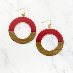 Wooden Hoops - Red