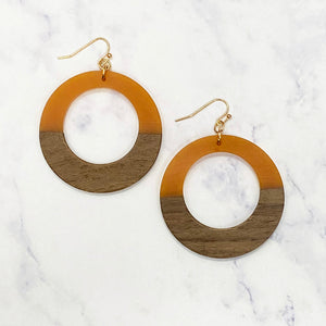 Wooden Hoops - Orange