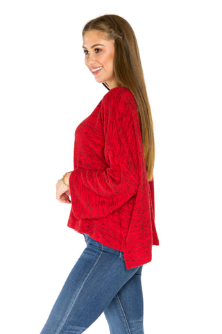 Alabama Crimson Tide Womens Kimono Sleeve Top - Crimson