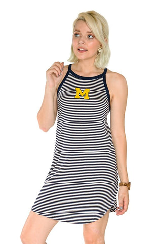 Michigan Wolverines Sadie Striped Dress