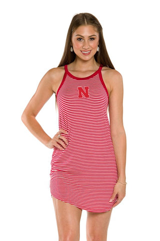 Nebraska Huskers Sadie Striped Dress
