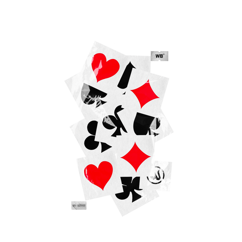"""POKER"" STICKERS KIT"