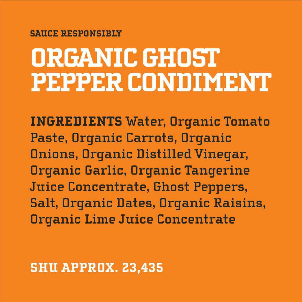 Organic Ghost Pepper Condiment