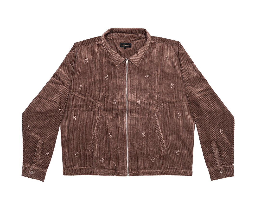 Brown Corduroy Jacket ''DS Overall Embroideries''