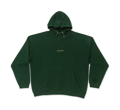 Dark Green Hoodie '' Golden Shiny Diamond Print''