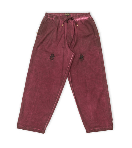 Washed Out Purple / Burgundy Pant ''DS embroideries''