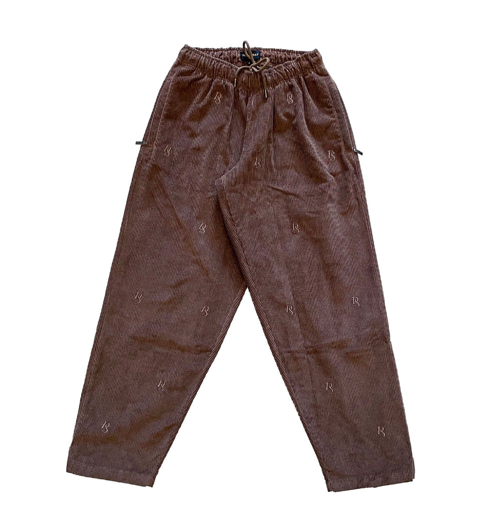 Brown Corduroy Pant ''DS Overall Embroideries''