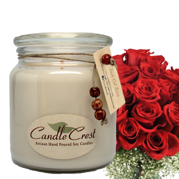 Candle Crest Candles: Fresh Cut Roses, Classic