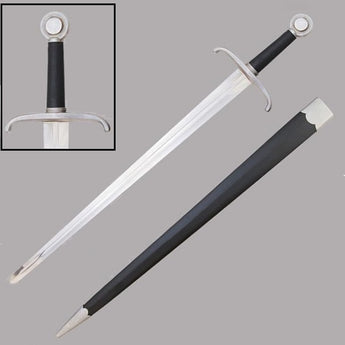 Royal Sentry Sword With Leather Scabbard - knifeblade-store