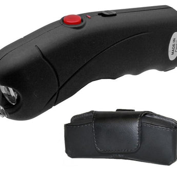 Black Cyclone 2.5 Million Volt Rechargeable Stun Gun With Alarm - knifeblade-store