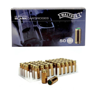 50 Rounds 9mm P.A.K. Blanks Steel Case, For Full & Semi-Auto Pistols - knifeblade-store