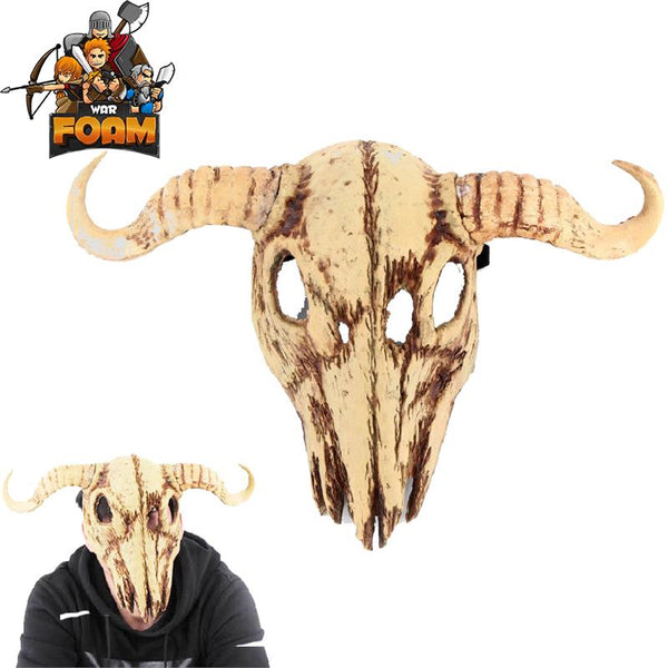 Cow Skull Bull Steer Head Mask For Cosplay Halloween Masquerade - knifeblade-store