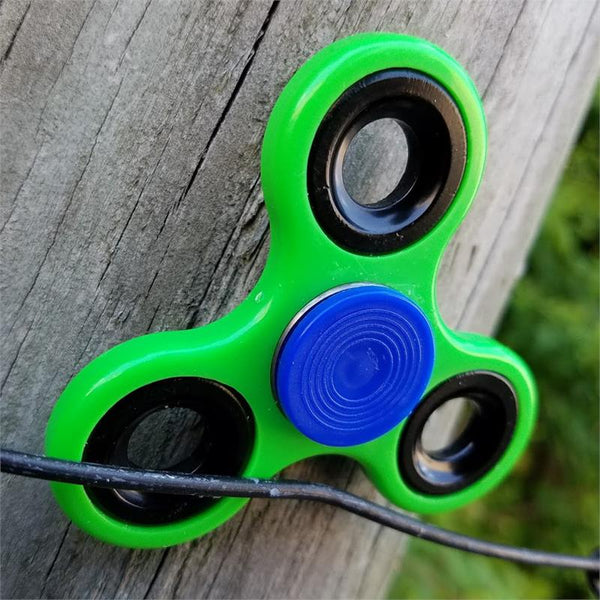 Stress Relief Hand Spinner and Spinning Tri Fidget High Speed Green - knifeblade-store