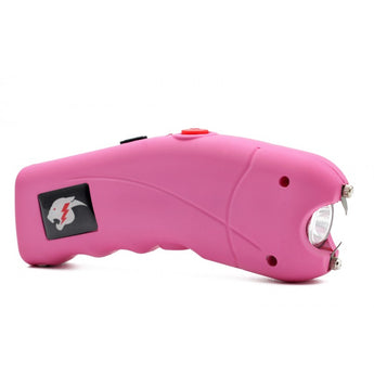 Pink Cyclone 2.5 Million Volt Rechargeable Stun Gun With Alarm - knifeblade-store