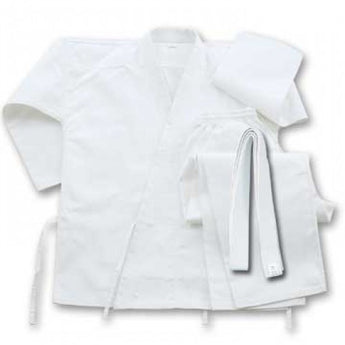 6 oz Cotton Karate Student Uniform White With Belt Size 9 - knifeblade-store