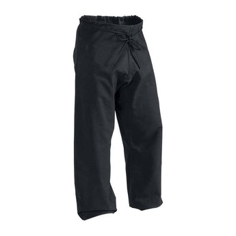 12 oz Heavy Weight Cotton Karate Pants Black Size 7 - knifeblade-store