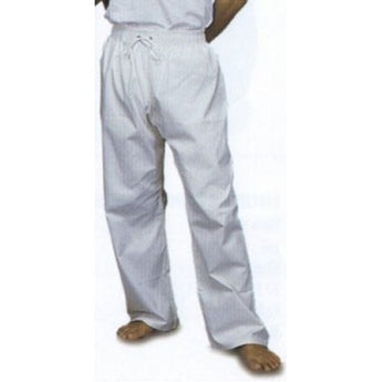 Middleweight Student Elastic Waist Pants - White Size 8 - knifeblade-store