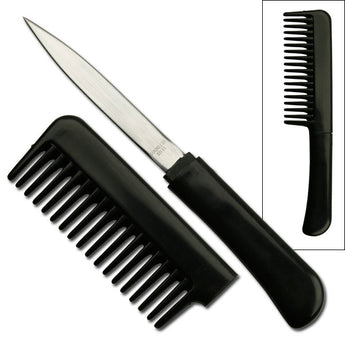 Black Comb With Hidden Knife - knifeblade-store