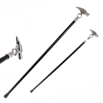 34.5 Inches Aluminum Hammer Handle Style Gentleman's Walking Stick - knifeblade-store