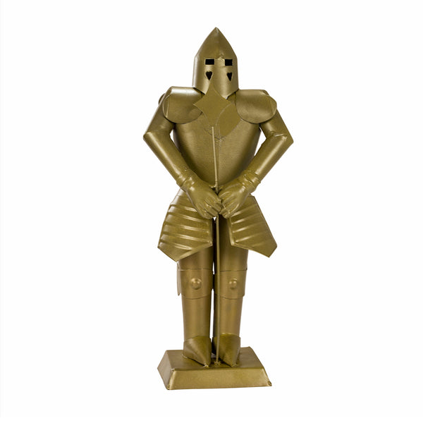 Suit of Armor Medieval Knight Golden Finish Decorative Collectible - knifeblade-store